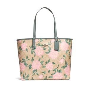 Coach Reversible City Tote With Camo Rose